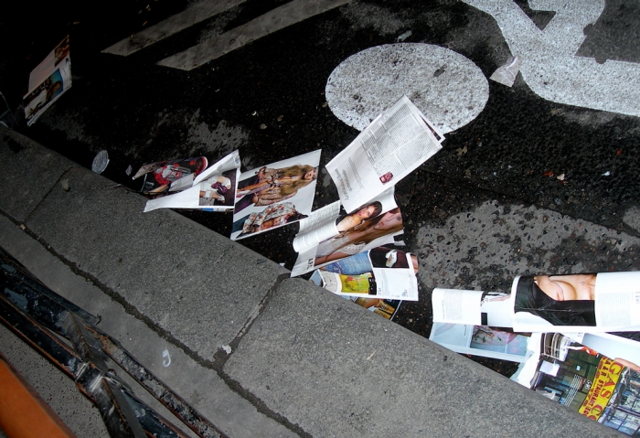 terry richardson dans le caniveau / terry richardson in the gutter