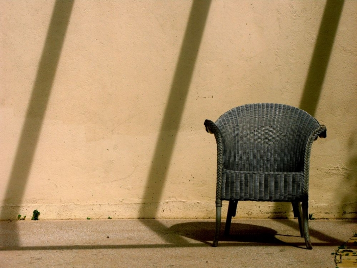 chaise & ombres / chair & shadows