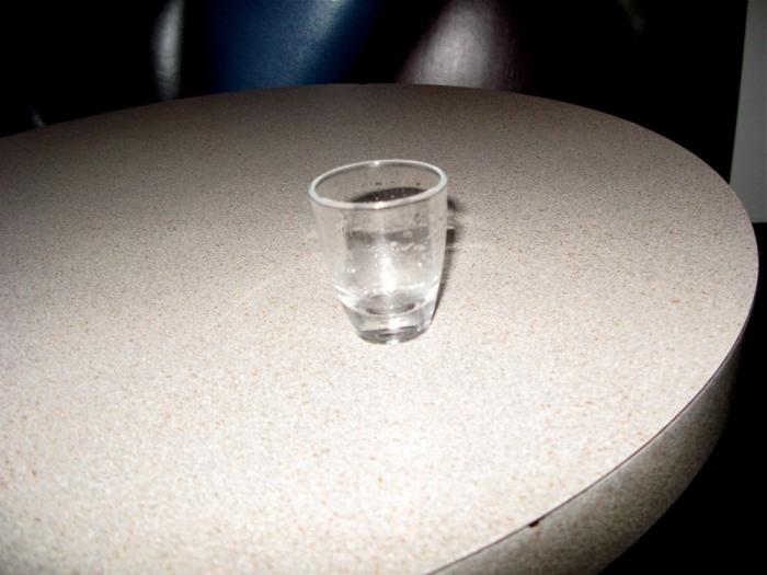 verre vide / empty drink