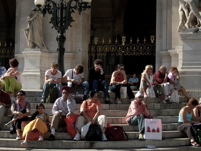 les touristes / tourists